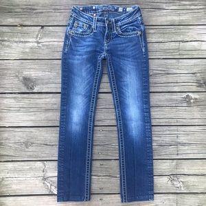Miss Me Jeans Buckle Skinny JK88952 Embellished 10